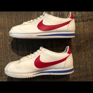 NIKE WMNS Classic Cortez Leather  10 White/Red/Blu